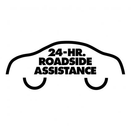 Free 24 Hour Roadside Assistance on car with flat tire