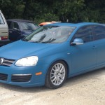 Blue Plasti Dip Car