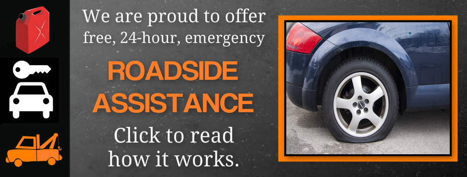 Now Offering Free 24 Hour Roadside Assistance